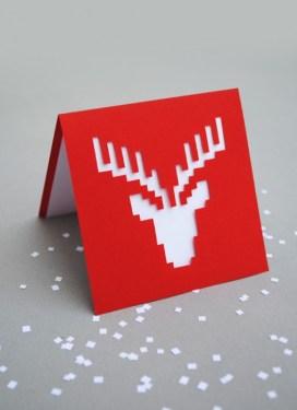 DIY.reindeer card 15 - card
