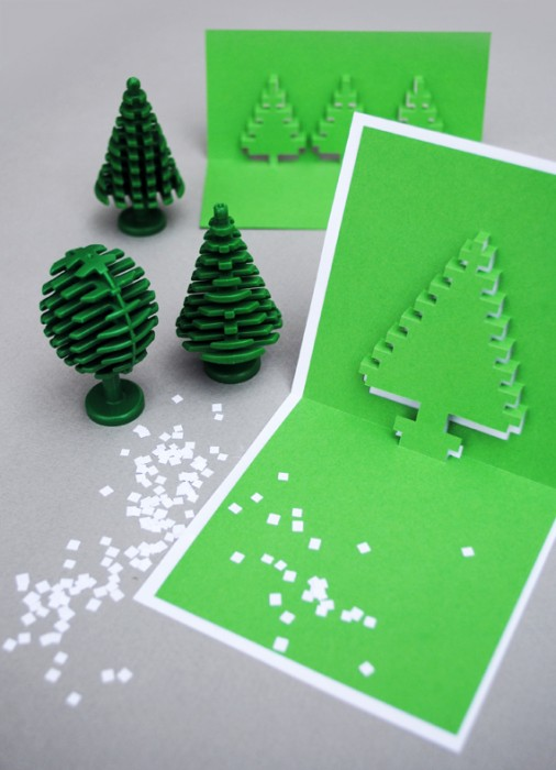 DIY.Christmas pixel popup cards 13 - christmas