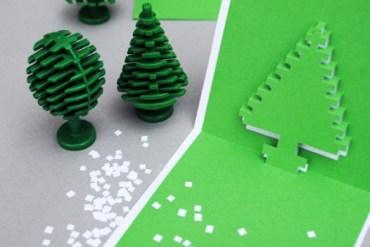 DIY.Christmas pixel popup cards 18 - christmas