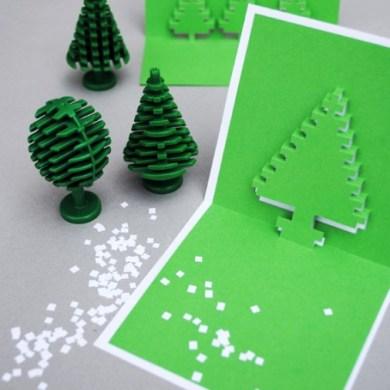 DIY.Christmas pixel popup cards 14 - christmas