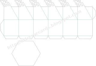 25551215 204304 DIY และเทมเพลท กล่องของขวัญ snowflake