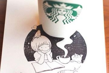 3D comics series จากถ้วย Starbuck แทนกระดาษวาดเขียน 14 - Starbucks (สตาร์บัคส์)
