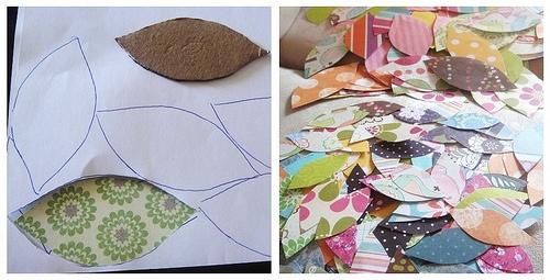 25551229 191536 DIY ต้นไม้จากเศษกระดาษห่อของขวัญ