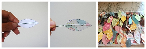 25551229 191548 DIY ต้นไม้จากเศษกระดาษห่อของขวัญ