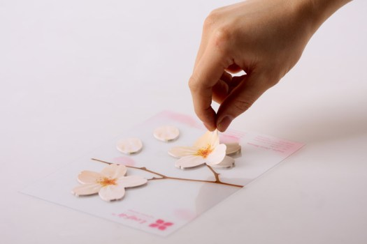 cherryblossom01 525x350 กระดาษโพสต์ อิท ที่ร่วงโรย Cherry blossom memo stickers by appree