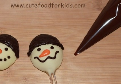 DIY.Chocolate Snowmen For Kids 18 - Chocolate