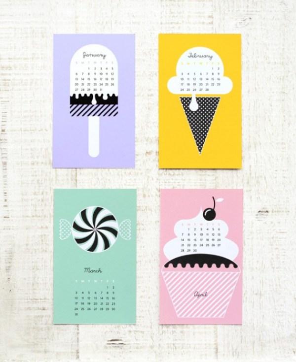 sweet calendar 01d Sweet Calendar..ฟรี!..เทมเพลทปฏิทินหวานๆรับปี 2013