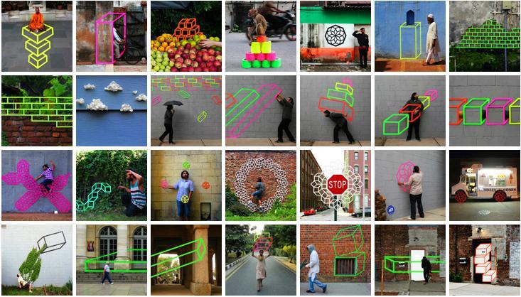 3D Tape Art Installation เทปกาวลายกราฟิก สร้างมิติที่สร้างสรรค์ 26 - street art