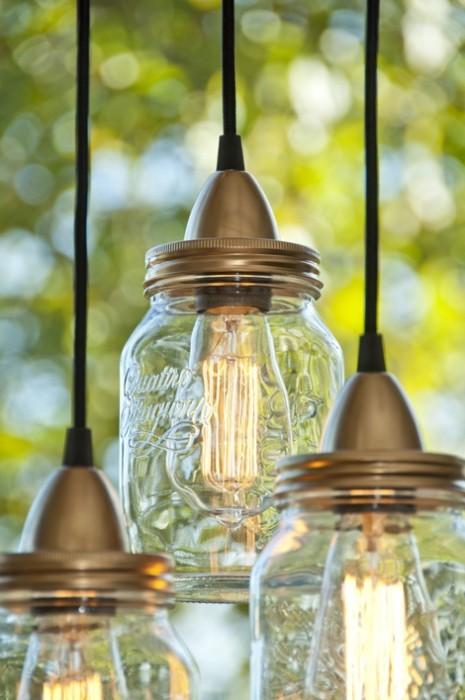 DIY ทำโคมไฟจากขวดแก้วไม่ใช้แล้ว 13 - DIY
