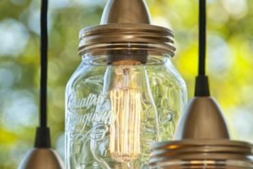 DIY ทำโคมไฟจากขวดแก้วไม่ใช้แล้ว 25 - รีไซเคิล