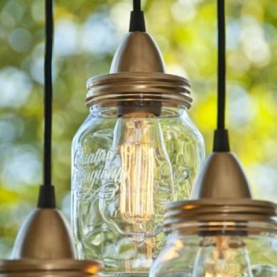 DIY ทำโคมไฟจากขวดแก้วไม่ใช้แล้ว 16 - DIY