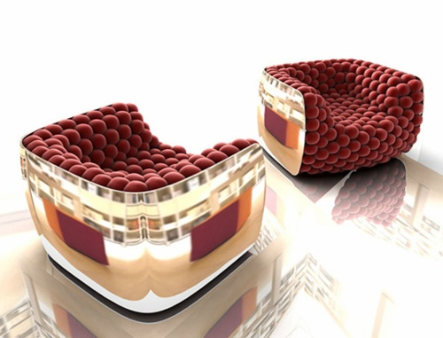 25560115 080517 เก้าอี้นุ่มหยุ่นผ่อนคลาย..Blueberry armchair..