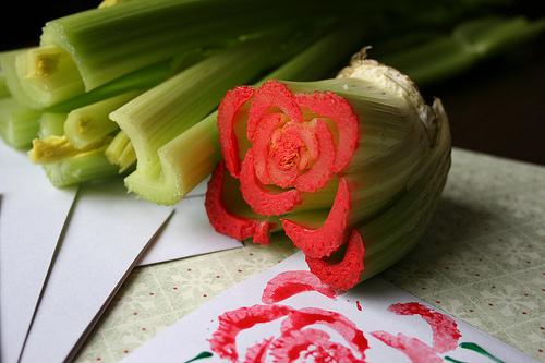 DIY สร้างภาพสวยๆ จากผักในครัว..ง่ายมากกก... 13 - DIY