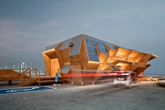 Endesa Pavilion 1 Green Architect Endesa Solar Pavilion แนวคิด การนำพลังงานแสงอาทิตย์มาใช้กับตัวอาคารได้อย่างชาญฉลาด