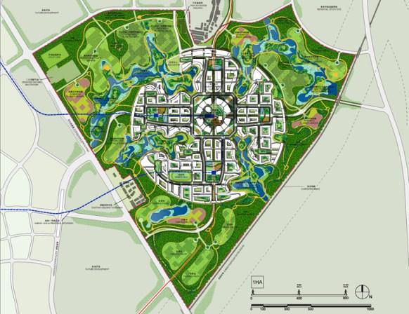 adrian smith gordon gill Chengdu Tianfu District Great City 8 Design for Sustainable City แนวคิดเรื่อง Graden City เมืองสรวงสววรค์แห่งสวนสวย