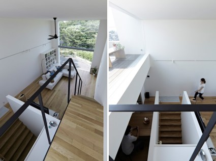 hiyoshi 08 425x316 The rectangular house from Enjoy and Architecture