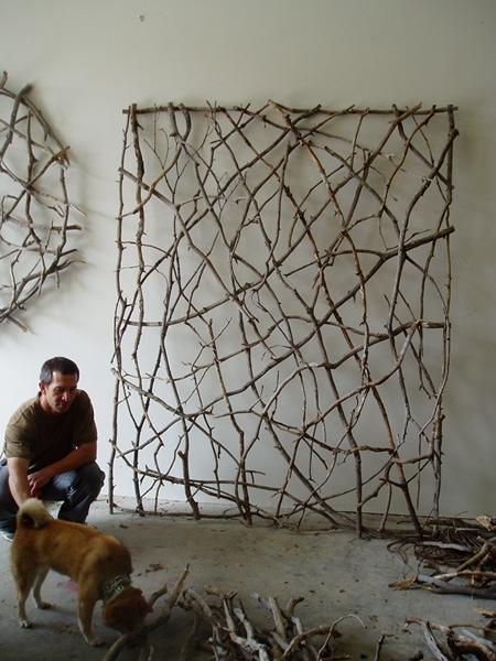 งานศิลปะประดับผนังจากกิ่งไม้ 13 - Organic Art
