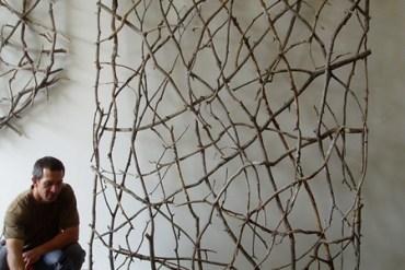 งานศิลปะประดับผนังจากกิ่งไม้ 13 - Twig Sculpture