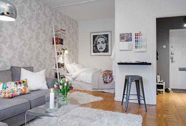 ตกแต่งอพาร์ตเม้นต์ขนาดเล็ก เรียบๆแต่งดงาม ได้ประโยชน์ใช้สอยครบ..สไตล์สวีเดน 13 -