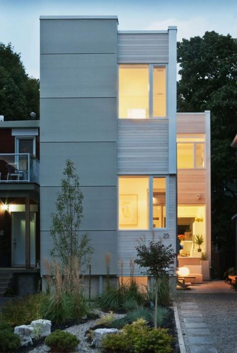 ไอเดียบ้านทาวน์เฮาส์ในเมือง โดดเด่นด้วยลานตรงกลางบ้านแบบร่วมสมัย 13 - minimalist style