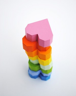 3d heart 1 298x375 Geometric heart Valentines box