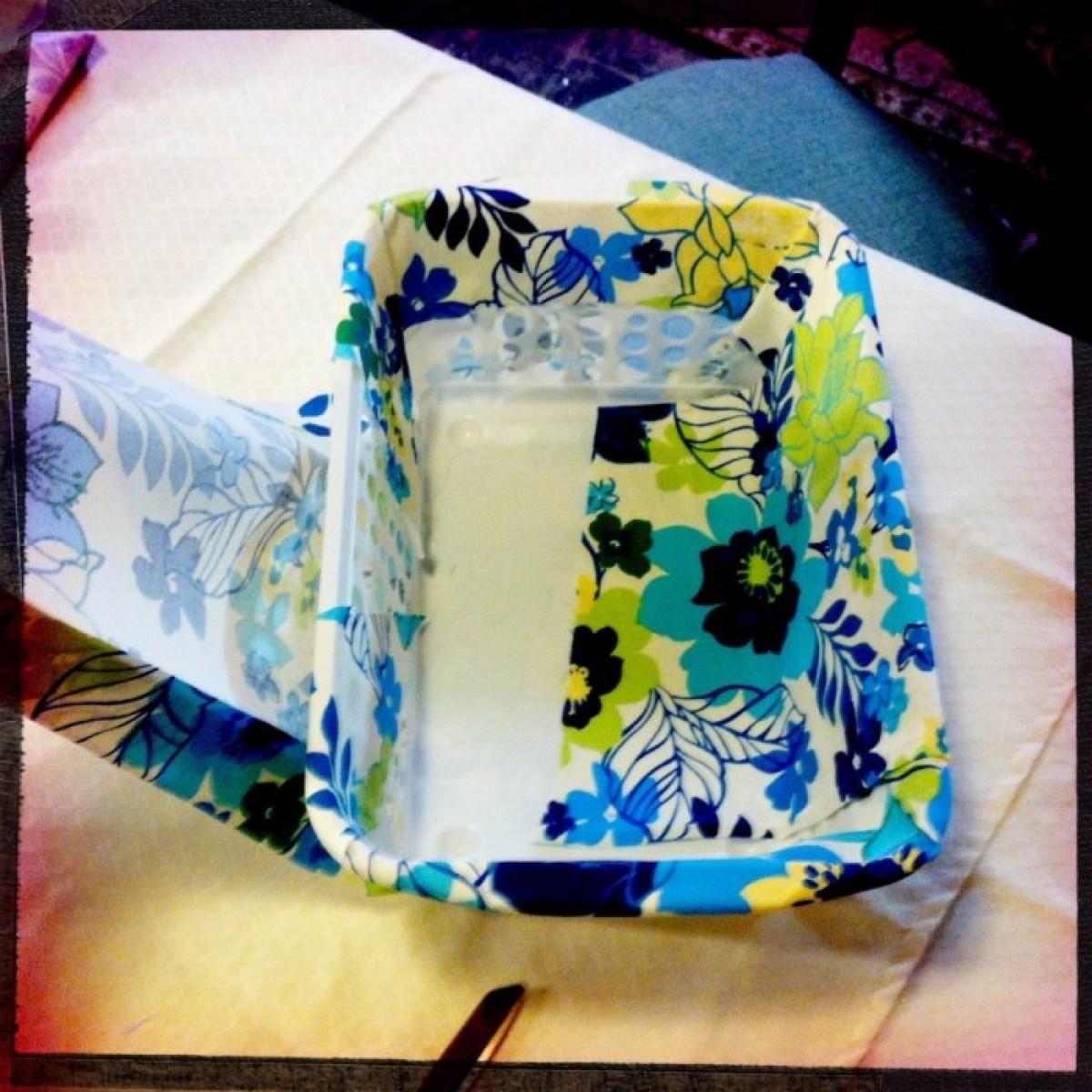 IMG 4054 1 DIY แปลงโฉมตะกร้าพลาสติก เป็นตะกร้าผ้าสุดสวย
