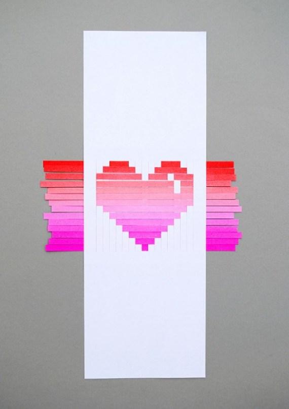 woven heart 1 DIY.Woven heart,My Valentines card