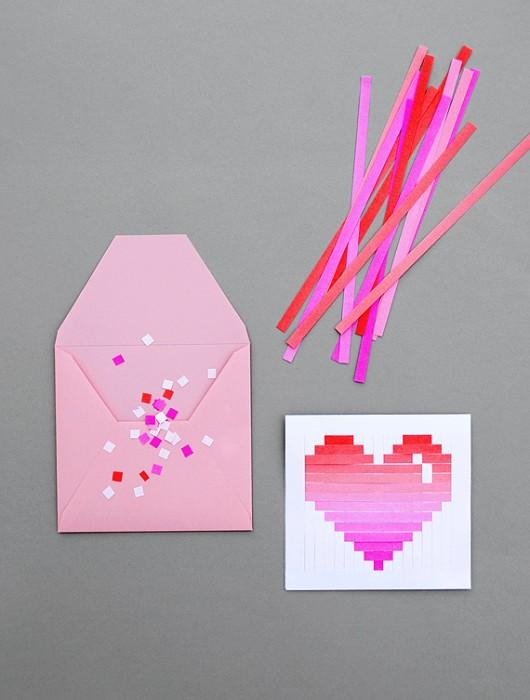 DIY.Woven heart,My Valentine's card 13 - card
