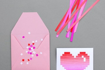 DIY.Woven heart,My Valentine's card 2 - heart card