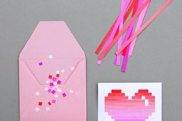 DIY.Woven heart,My Valentine's card 19 - card