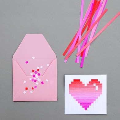 DIY.Woven heart,My Valentine's card 16 - card
