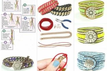 DIY แบบถักสร้อยข้อมือ..แบบต่างๆ 14 - bracelet