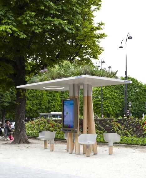 25560320 095141 งานออกแบบ Wi Fi stations ..ในกรุงปารีส สวยงามร่มรื่น น่านั่งยิ่งนัก