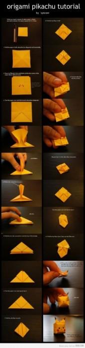 c8177d8281a1922377f8828000d98a7a มาพับ Origami Pikachu กัน