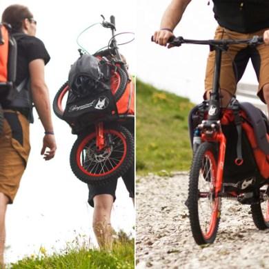 "Folding Backpack Bike แบกได้ปั่นได้กับ ""จักรยาน แบ็กแพ็จเกอร์"" 16 - Bergmoench"