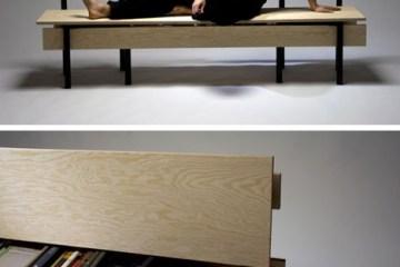 DIYม้านั่ง ที่เกิดขึ้นได้ง่ายๆจากเก้าอี้ 2 ตัว กับไม้ 5 แผ่น 14 - DIY