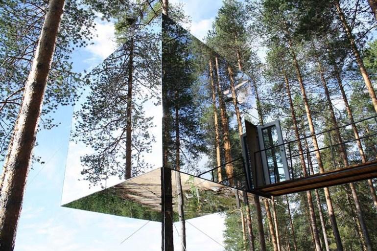โรงแรมล่องหน กลางป่าลึกในสวีเดน Harads Tree Hotel 13 - Hotel