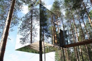 โรงแรมล่องหน กลางป่าลึกในสวีเดน Harads Tree Hotel 21 - Hotel
