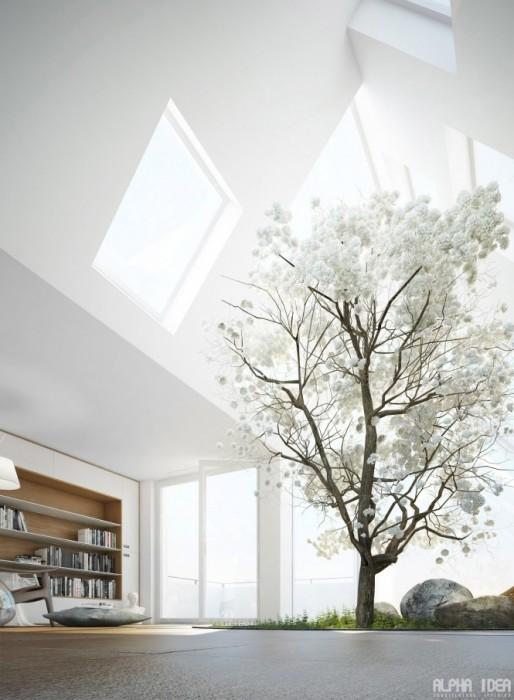 25560413 085557 บ้านที่มีสวนกลางบ้าน ล้อมรอบด้วยหนังสือ..ในบรรยากาศสงบและผ่อนคลาย