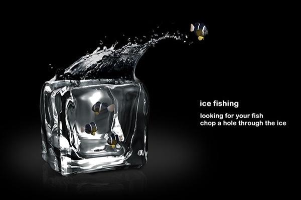 25560413 201326 อ่างปลาในก้อนน้ำแข็ง