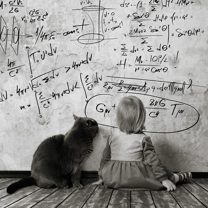 25560420 221808 เก็บความทรงจำดีๆไว้กับภาพขาวดำ..มิตรภาพระหว่างเด็กสาว 4 ขวบ กับแมวจอมกวน..
