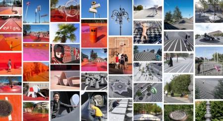 287 superkilen collage ap frontend 450x244 Superkilen พื้นที่ที่คนในชุมชนช่วยกันเลือกงานออกแบบมาเติมแต่งสวนสาธารณะ