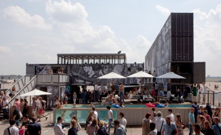 1 pool party hilfiger denim bread and butter summer 2011 container building wall berlin containerbuilding