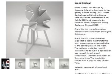 "Folding Table is Inspired By Pop-Up Map ""Grand Central"" โต๊ะพับได้ตามรูปแบบของการพับแผนที่ป๊อปอัพ 28 - Pop-Up Map"