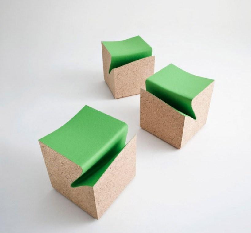 cubes01 eroded stool ES3 by im LAB..เก้าอี้สตูว์ มีช่องเก็บนิตยสารในตัว
