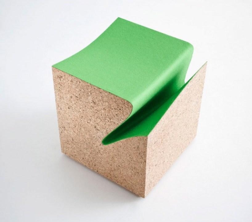 cubes03 eroded stool ES3 by im LAB..เก้าอี้สตูว์ มีช่องเก็บนิตยสารในตัว