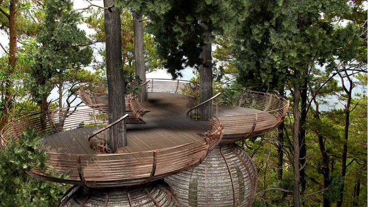 gibbon ROOST Treehouse 2 1 Copy The Roost Treehouse..แบบเดียวกับบ้านเอล์ฟใน Lord of the Rings