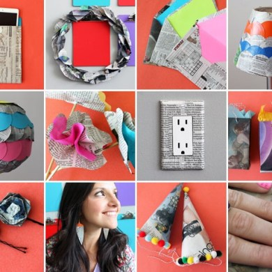 8 creative ways repurpose newspaper 24 - DIY