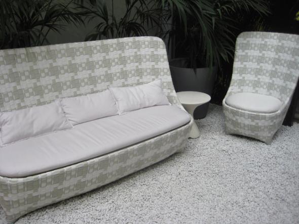 ludovica roberto palomba for driade cape west sofa armchair at milan showroom designgush2 เก้าอี้สานแนวโมเดิร์น..ดูเหมือนตะกร้าสานของบ้านเรา