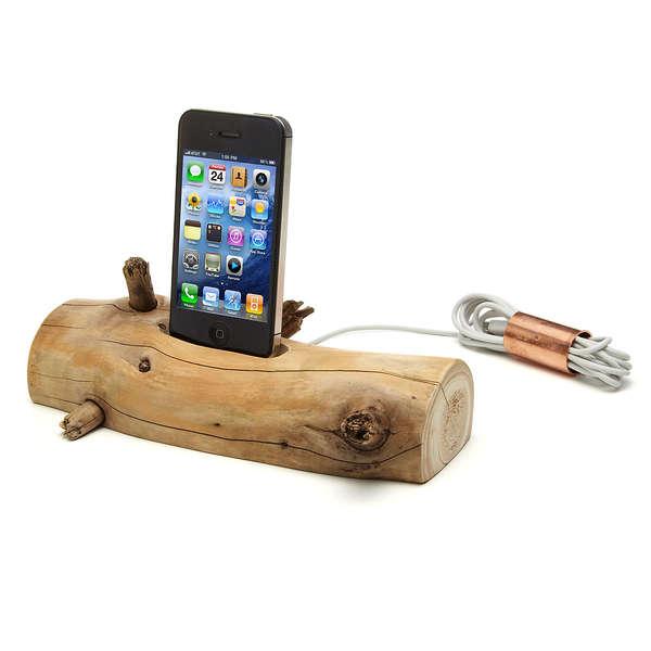 แท่นชาร์ต iPhone จากท่อนไม้ที่เก็บได้ตามชายหาด..นี่ล่ะ Organic Minimalism 13 - Charging Dock